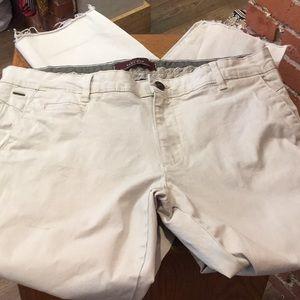 Zara Man Basic Cotton Chinos. 34. Unfinished Hem.